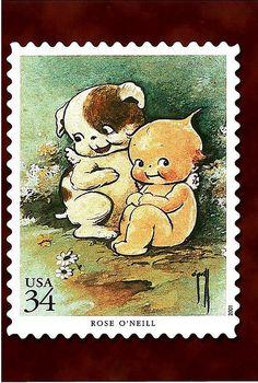Rose O'Neill / Kewpie stamp