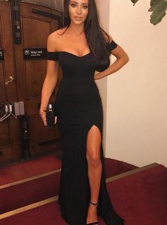 Sexy Prom Dress,Off The Shoulder Long Black Prom Dress,Cheap Prom Dress,Mermaid Prom Dresses Split Evening Gowns Split Prom Dresses, Sexy Dresses, Homecoming Dresses, Prom Gowns, Graduation Dresses, Dress Prom, Ball Dresses, Party Dresses, Mermaid Evening Dresses
