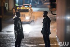 "Arrow -- ""The Offer"" -- Image AR316B_0357b -- Pictured (L-R): Karl Yune as Maseo and Stephen Amell as Oliver Queen -- Photo: Diyah Pera/The CW -- © 2015 The CW Network, LLC. All Rights Reserved.pn"
