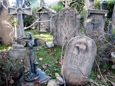 Graveyard during the