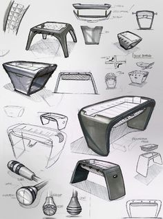 Toulet foosball table by Adrien Lefebvre   Design Sketches