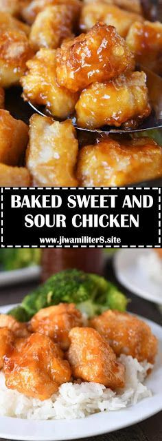 These easy grilled chicken Recipes that are some of the best in the world. Grilled chicken dishes as everyone looks forward to these dish on the table. Baked Sweet And Sour Chicken Recipe, Easy Chicken Recipes, Baked Chicken, Asian Recipes, Healthy Recipes, Easy Recipes, Easy Chinese Food Recipes, Sweet And Sour Recipes, Chinese Chicken Recipes