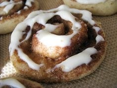 These Cinnamon Roll Sugar Cookies are to die for. They're so soft, full of cinnamon and covered with a sweet, smooth glaze. Cinnamon Roll Cookies, Rolled Sugar Cookies, No Bake Cookies, Cinnamon Rolls, Cookies Et Biscuits, Pan Cookies, Gourmet Cookies, Yummy Cookies, Baking Recipes