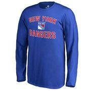2bf223e2d Youth New York Rangers Fanatics Branded Blue Wordmark Victory Arch Long  Sleeve T-Shirt