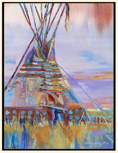Original paintings from Montana artist Carol Hagan. Native American Artwork, American Indian Art, American Artists, Tribal Pattern Art, Indian Teepee, Watercolor Paintings, Original Paintings, Mexican Paintings, Southwest Art