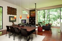 Overbrook Residence - contemporary - Dining Room - Atlanta - Cablik Enterprises