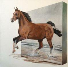 Horse # 8 3D. Eka Peradze. 50x70cm   Arteide