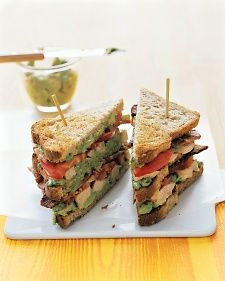 Avocado mashed with lime juice and pickled chiles gives this classic sandwich a regional flavor.