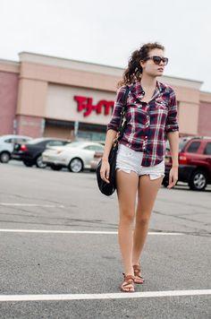 Checkered shirt & shorts