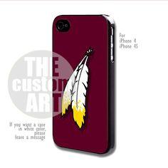 Washington Redskins logo case for iPhone 4/4S | TheCustomArt - Accessories on Bonanza