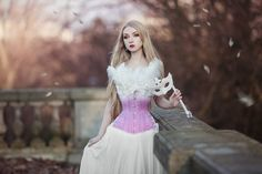Have a lovely evening! I'm waiting for a movie to start. John Wick time. ^^ Corset: @timelesstrends  Outfit and photo made by me.  #corset #corsetry #fantasy #fairytale #pastel #blondehair #dress #photography