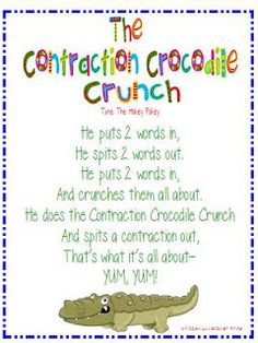 Great Poem to use when teaching contractions!
