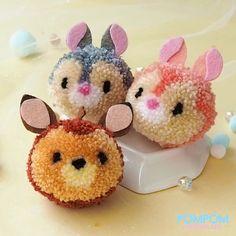 disney crafts DIY Tutorial - How to Make a Pompom Bambi - Pompom Tutorial Cute Crafts, Creative Crafts, Diy And Crafts, Pom Pom Crafts, Yarn Crafts, Disney Crafts For Kids, Moana Crafts, Toy Story Crafts, Pom Pom Animals