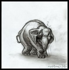 Elephant - by Cre8tivemarks on DeviantArt     ★ || CHARACTER DESIGN REFERENCES™ (https://www.facebook.com/CharacterDesignReferences & https://www.pinterest.com/characterdesigh) • Love Character Design? Join the #CDChallenge (link→ https://www.facebook.com/groups/CharacterDesignChallenge) Share your unique vision of a theme, promote your art in a community of over 50.000 artists! || ★