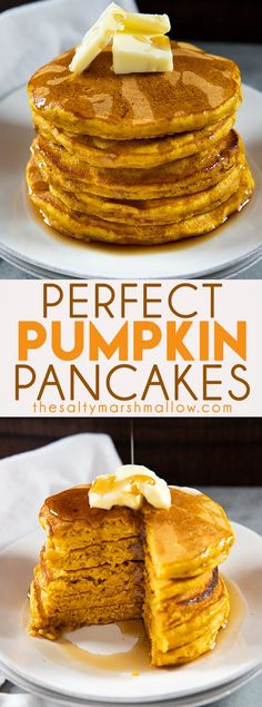 fall recipes Perfect Pumpkin Pancakes are the absolute best and so easy to make with everyday ingredients! Packed full of fall flavor with pumpkin, cinnamon, ginger, and nutmeg! Brunch Recipes, Fall Recipes, Dessert Recipes, Pumpkin Recipes To Freeze, Pumpkin Recipes Healthy Easy, Recipes Dinner, Delicious Recipes, Breakfast Dishes, Breakfast Recipes