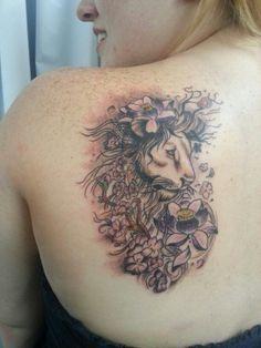 tattoo lion girl - Google Search