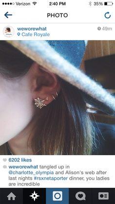 Or web earrings
