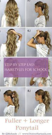 Die 42 Besten Bilder Von Einfache Frisuren Für Langes Haar