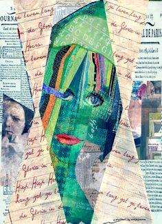 pixelwoman mixed media by ansjejoanna