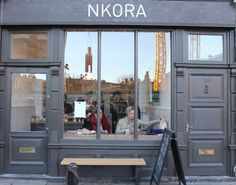 Nkora coffee shop, Shoreditch, London