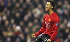 Cristiano Ronaldo goal celebration at Manchester United