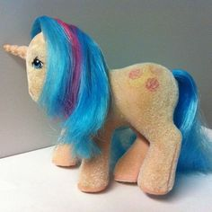 My Little Pony MLP G1 Vintage SS So Soft Ponies Unicorn BUTTONS 1986 - Flawed