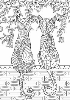 Cats Adult Coloring Doodles On Behance