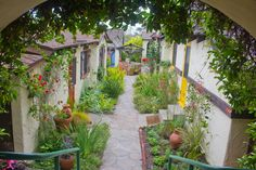 Four charming, cottages, which the Herzers meticulously renovated after they purchased the historic property in (The property came on the market for the first time since They also completely restored the gardens. California Garden, Southern California, Historic Properties, Manzanita, Interesting History, Laguna Beach, Dream Garden, Beautiful Homes, Outdoor Living