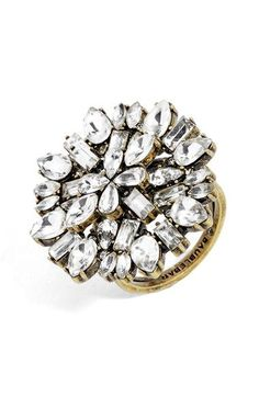 Free shipping and returns on BaubleBar Kiku Crystal Ring at Nordstrom.com. Vintage and modern styles collide on this antiqued statement ring covered in decadent crystals for sparkle and shine.