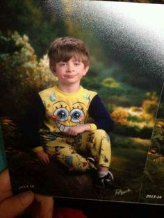 His mom mixed up pajama day and picture day: