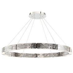 Zelda Chandelier by Modern Forms Ceiling Lamp, Ceiling Lights, L And Light, Lamp Design, Chandelier Lighting, Polished Nickel, Modern Lighting, Pendant Lamp, Lanterns