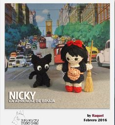 #amigurumi Nicky aprendiz de bruja Mickey Mouse, Disney Characters, Fictional Characters, Studio, Anime, Art, Bruges, The Creation, Amigurumi