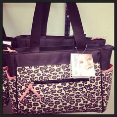 Animal Print Diaper Bag Diaper Bag (Purple)