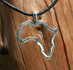Africa pendant Africa necklace Continent pendant Sterling Silver map of Africa pendant African necklace Africa Continent, Africa Map, Africa Outline, Africa Necklace, Bling Bling, Arrow Necklace, Jewelry Accessories, African, Jewellery
