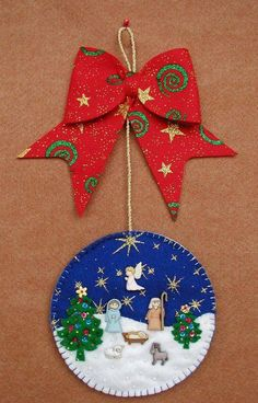 Christmas Decorations Sewing, Vintage Christmas Crafts, Christmas Ornament Crafts, Christmas Wood, Felt Ornaments, Christmas Projects, Handmade Christmas, Holiday Crafts, Christmas Embroidery Patterns