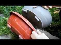 How to make a bonsai pot very easily Cement Flower Pots, Diy Concrete Planters, Concrete Pots, Concrete Garden, Diy Planters, Concrete Casting, Diy Projects Cement, Cement Crafts, Cement Design