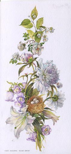 Открытки худ. О. Ионайтис - 52-Белые цветы