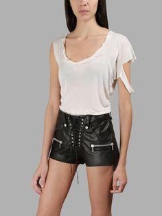 BEN TAVERNITI UNRAVEL PROJECT BEN TAVERNITI UNRAVEL PROJECT WOMEN'S WHITE ASYMMETRIC T-SHIRT. #bentavernitiunravelproject #cloth #t-shirts