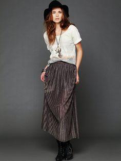 Boots + maxi skirt