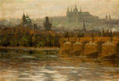 Stanislav Feikl A View of Prague Castle