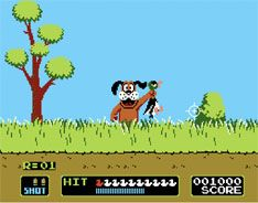 Duck Hunt. Classic game-the first game that let me hold a gun for my controller. just a blast.
