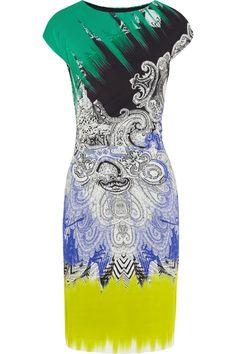 Etro|Printed stretch-crepe dress|NET-A-PORTER.COM
