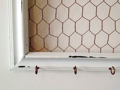 Extra Large Shabby Chic Chicken Wire Frame Hair by MonCheriShop, $38.00