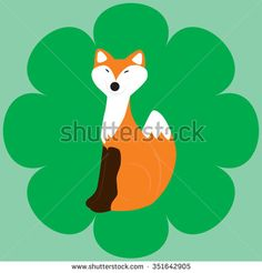 illustration of red fox - stock vector