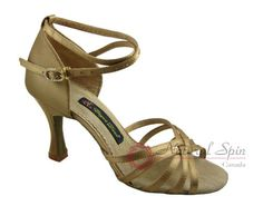 Natural Spin Signature Ladies Dance Shoes (Classic): Latin Shoes(Open Toe) H1101