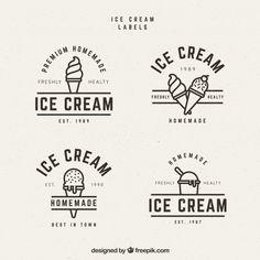 Mehrere Eisetiketten im Vintage-Stil – Donut-Logos – … – Ice Crea… Several Vintage Style Ice Cream Labels – Donut Logos – … – Ice cream – Logo Ice Cream, Ice Cream Sign, Ice Cream Brands, Ice Cream Poster, Vintage Stil, Style Vintage, Vintage Art, Logo Vintage, Vintage Graphic