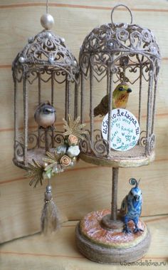 How to make bird cage from jute - Crazzy Craft Diy Crafts For Kids, Easy Crafts, Arts And Crafts, Handmade Christmas Gifts, Handmade Gifts, Jute Crafts, Rope Art, 3d Quilling, Paper Birds