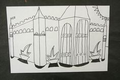 learning about perspective ... My favorite thing about teaching art is giving kids confidence in their art abilities. Perspective is a tough concept. It takes practice and a keen eye to catch that little detail that will make your picture come together. I usually choose to start teaching perspective in fourth grade around Halloween and connect it to the season by drawing delapidated houses, that way if the perspective is a little off it fits right in.