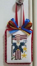 finished Completed Shepherd's Bush cross stitch 2 Face Ornament hanger-Uncle Sam