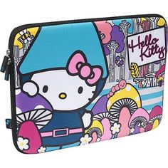 Loungefly Hello Kitty Gnome Laptop Case Grey/Multicolor - Loungefly Laptop Sleeves